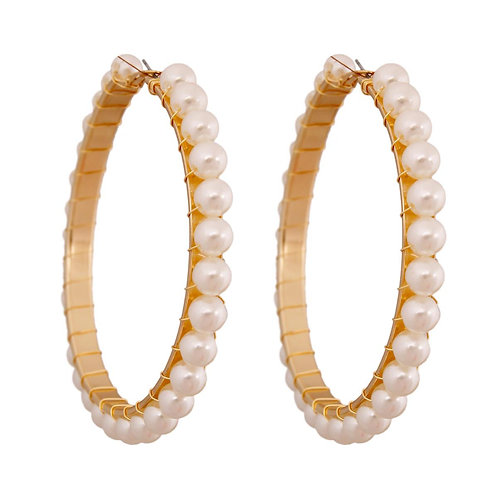 Wired Pearl Hoops