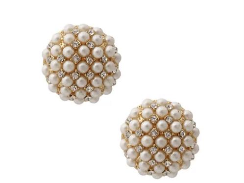 Mini Pearl gold stud