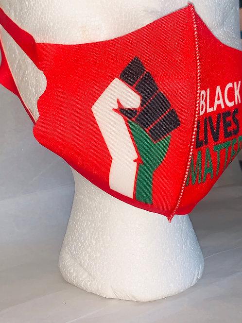 Kids Red Black Lives Matter Mask