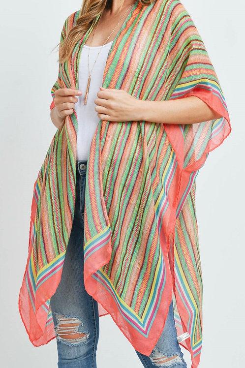 Multi Color Kimono