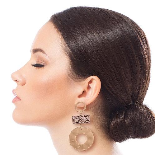 Round Acrylic Earrings