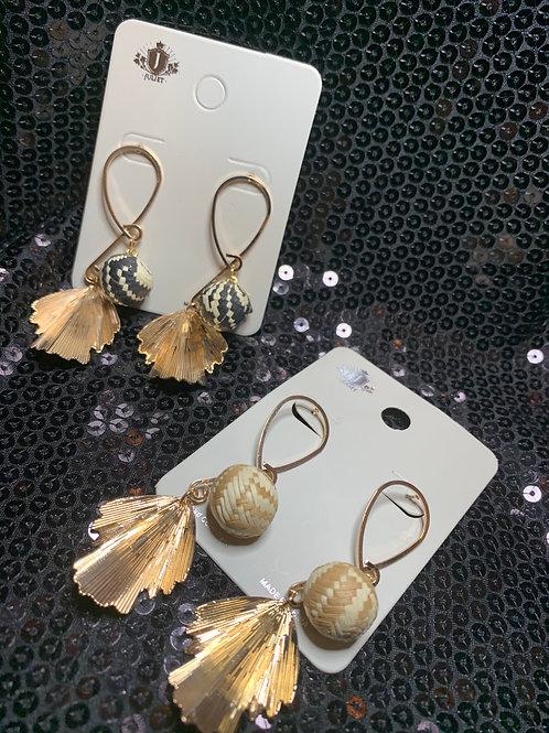 Dainty Leaf Drop Earrings