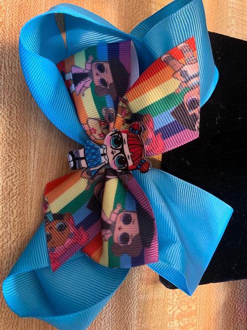 Little Ladies Rainbow Hair Bows
