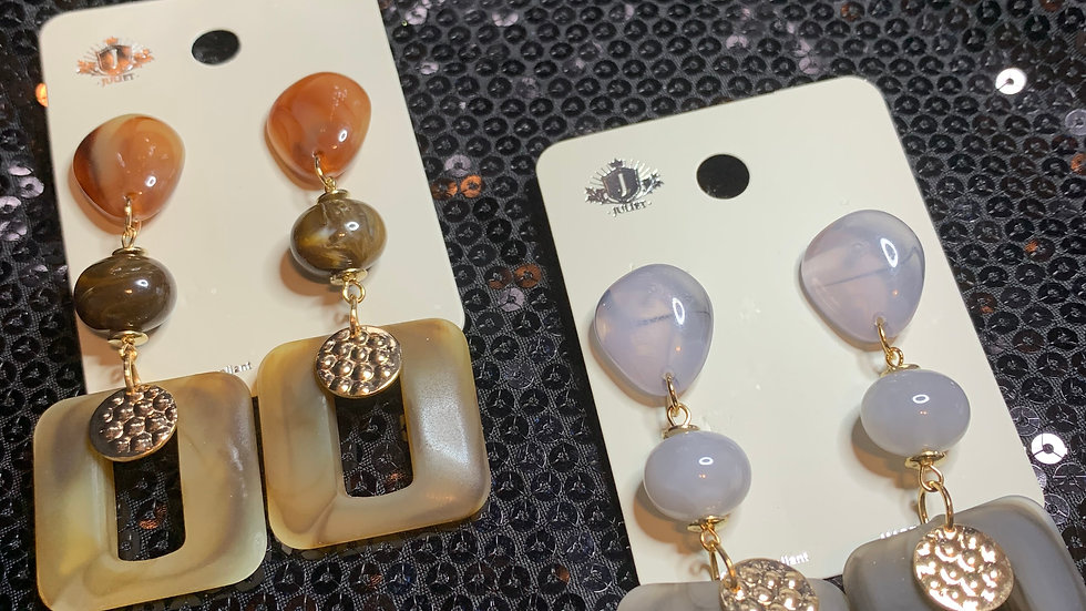Squared Up Drop Earrings