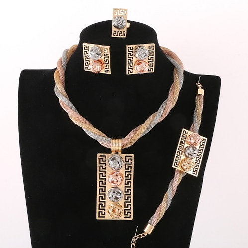 Gold Plated Necklace Set 3T