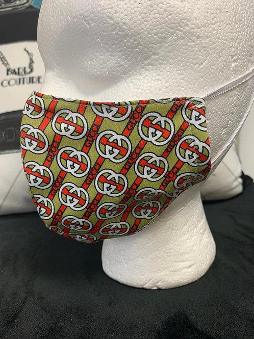 Green & Orange Gucci Inspired Mask