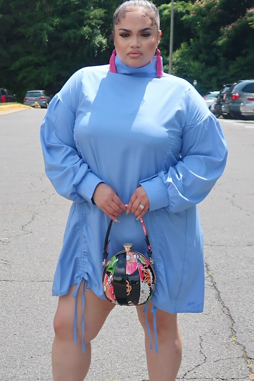 Sky blue dress ( XL)