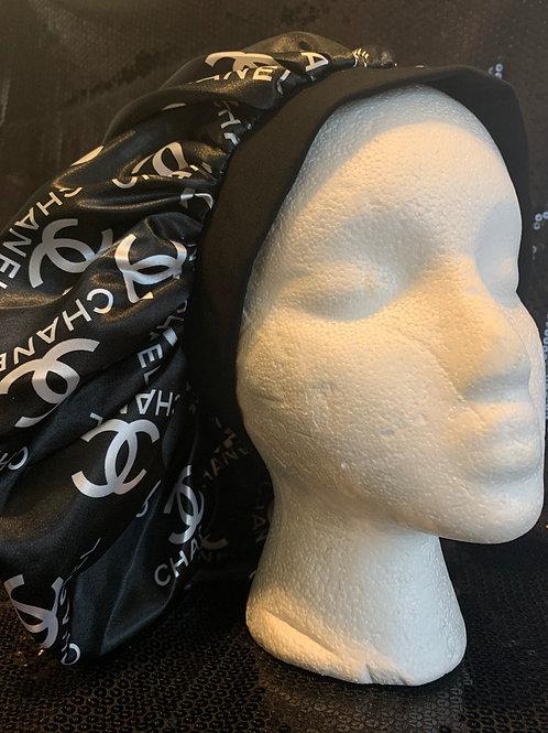 Black Chanel Inspired Bonnet