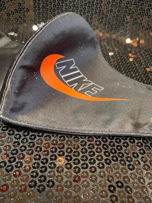 Black & Orange Nike Inspired Face Cover