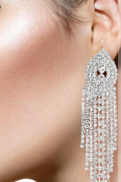Dazzle Drop Clip-On Earrings