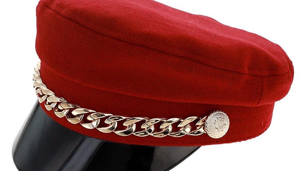 Red Painters Hat W/ Brim