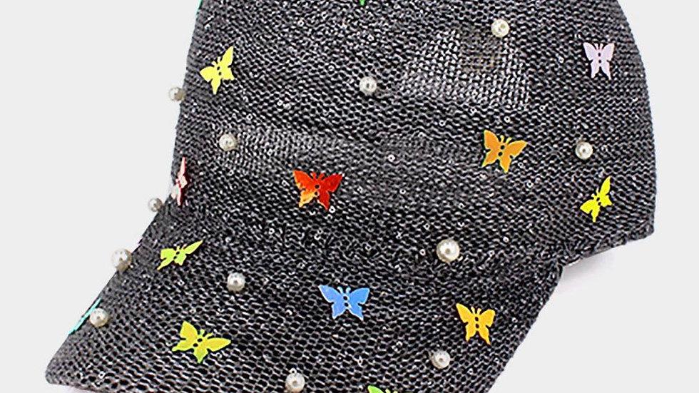 Pearl Butterfly Hat