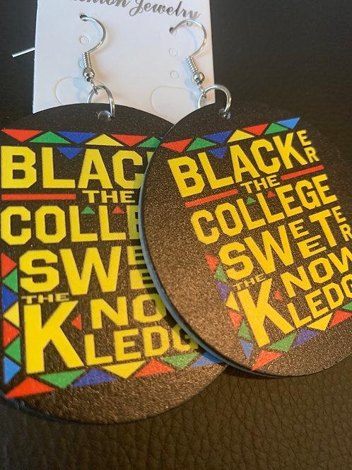 Blacker The College Wooden Earrings