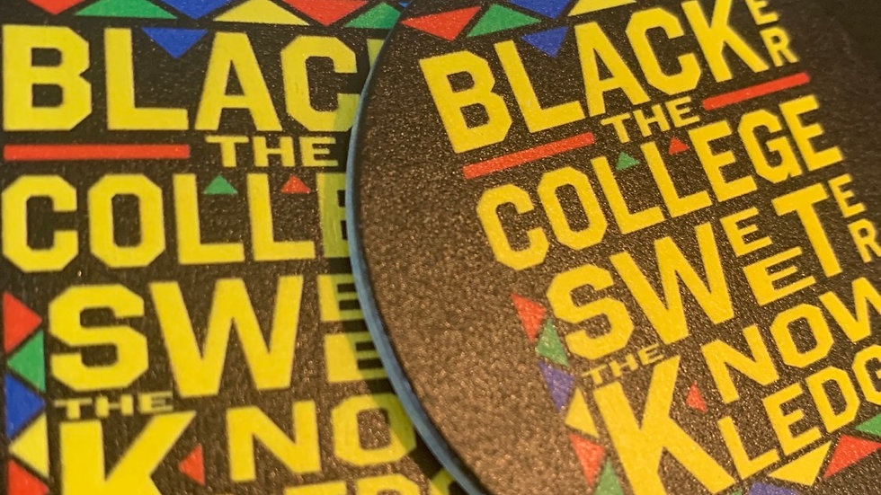 Blacker The College Wooden Earrings