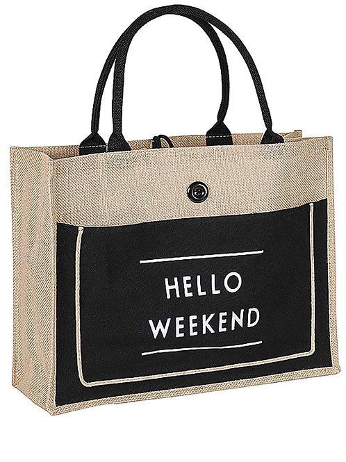 Hello Weekend Tote Bag