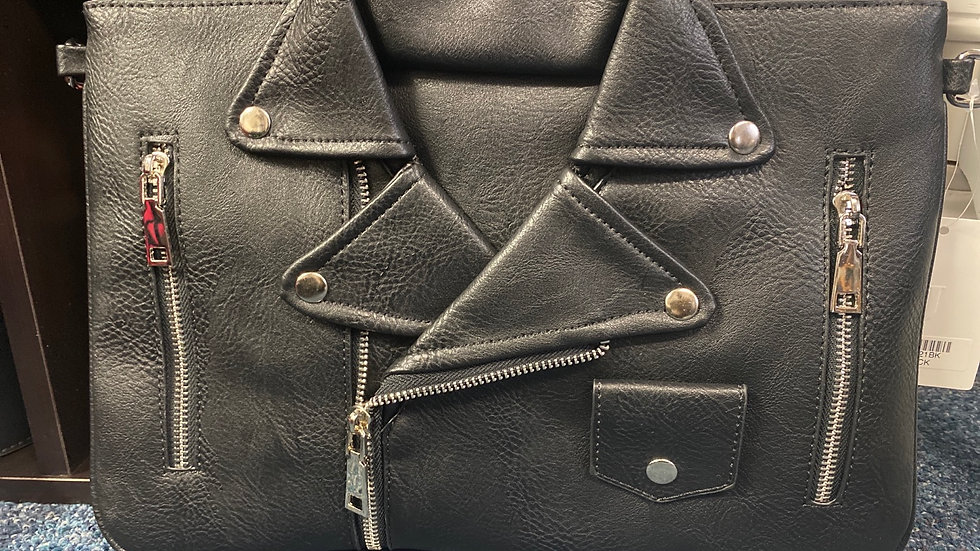 Faux Leather Jacket Cluth Bag