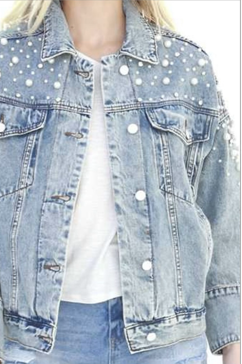 Denim Pearl Jacket