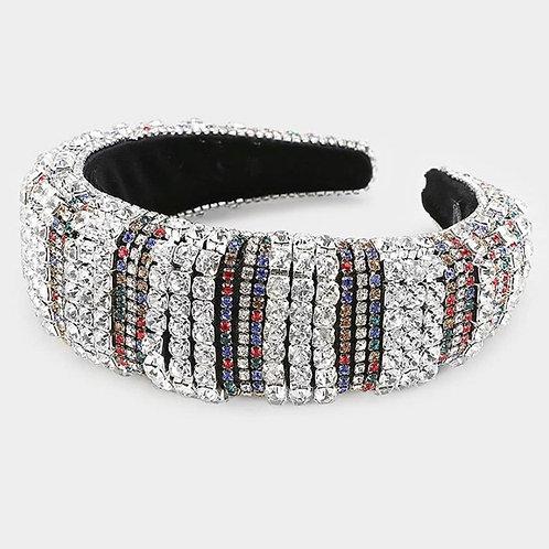 Triple Strand Jeweled Headband