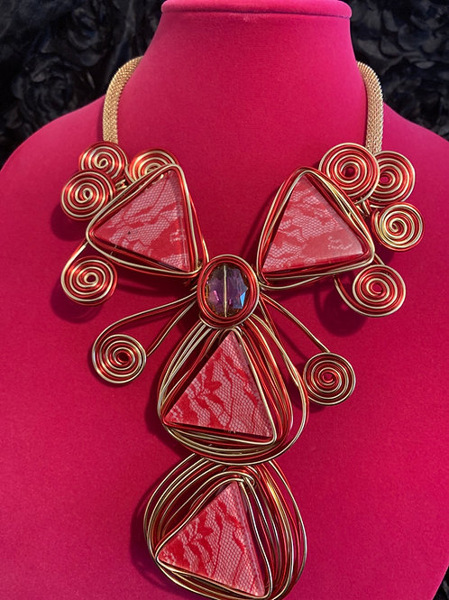 Red & Gold Wire Wrap Set