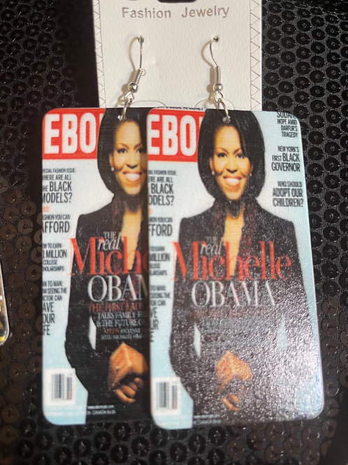 Michelle Obama Ebony Earrings