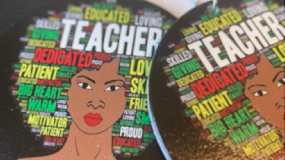 Educated Teacher Wooden Earrings