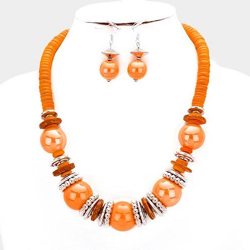 Tangerine Necklace set
