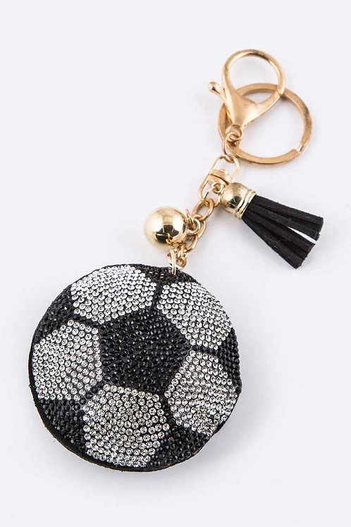 Soccer Ball Key Charm