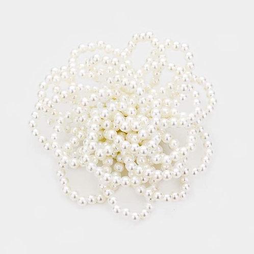 Pearl Flower Broach