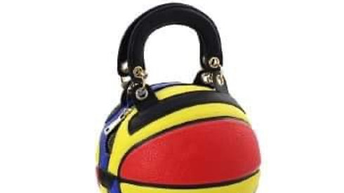 Faux Leather Basketball Tote