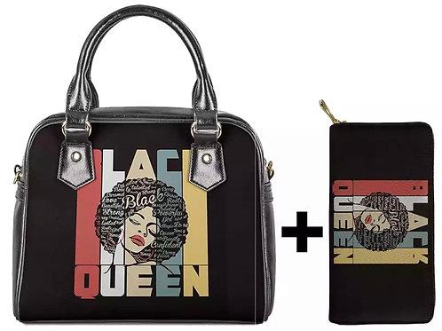Black Queen Handbag plus wallet
