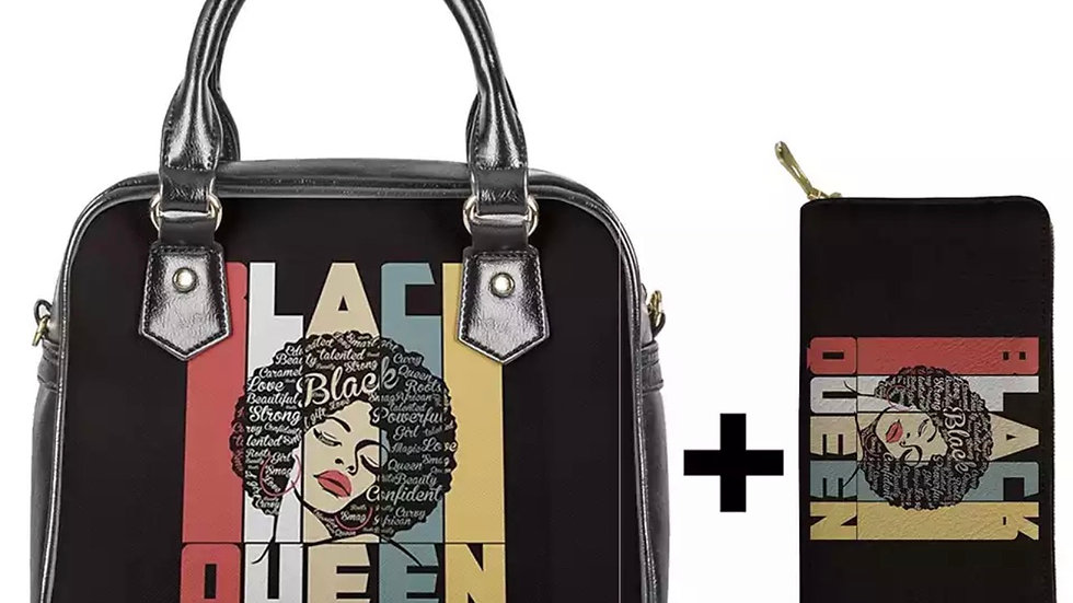 Black Queen Handbag plus wallet