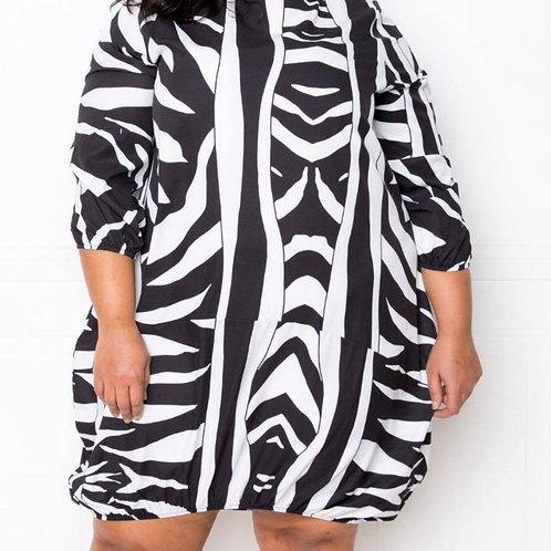 Zebra Printed Mini Dress