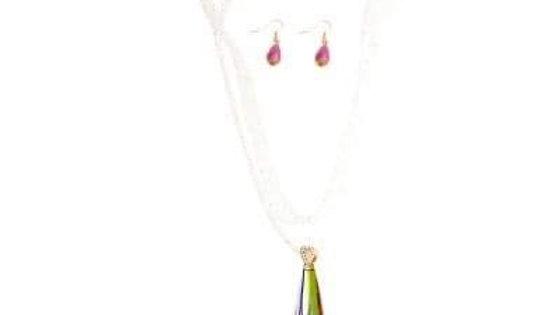Jeweled Drop Necklace Set