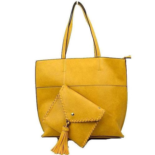 Mustard Handbag With Wallet