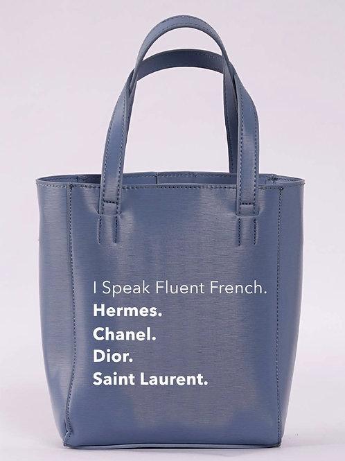 I Speak Fluent French Bucket Tote
