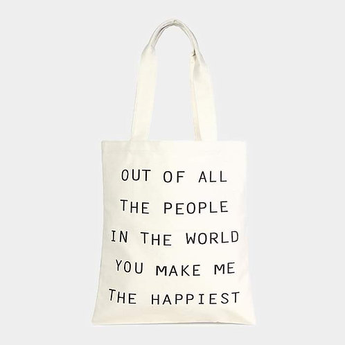 """""""Out Of All The People"""" Tote"""
