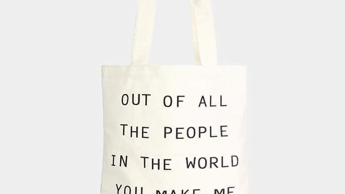 """Out Of All The People"" Tote"