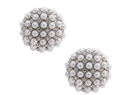 Pearl cluster stud