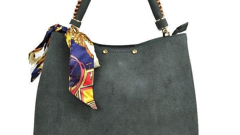 Grey Bandanna Bucket Bag