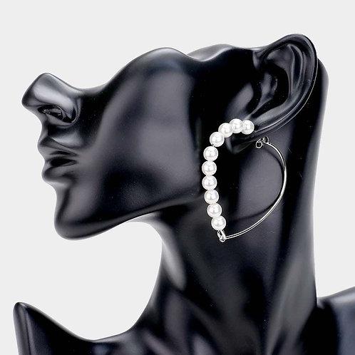 Pearly Heart Earrings