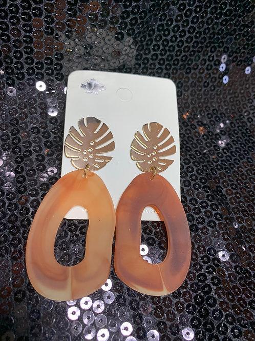 Golden Leaf Drop Earrings