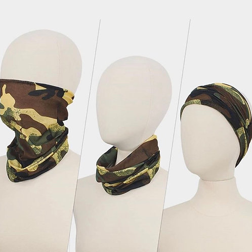 Camo 3 Way Face Cover