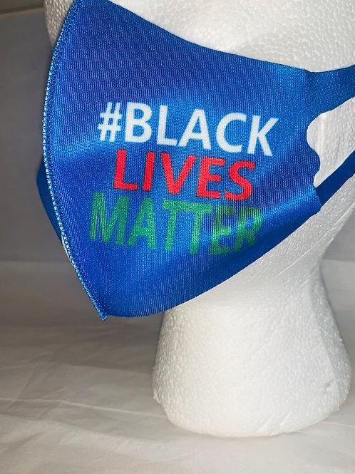 Kids Blue Black lives Matter Mask