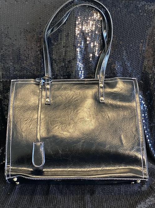 Faux Leather Medium Handbg