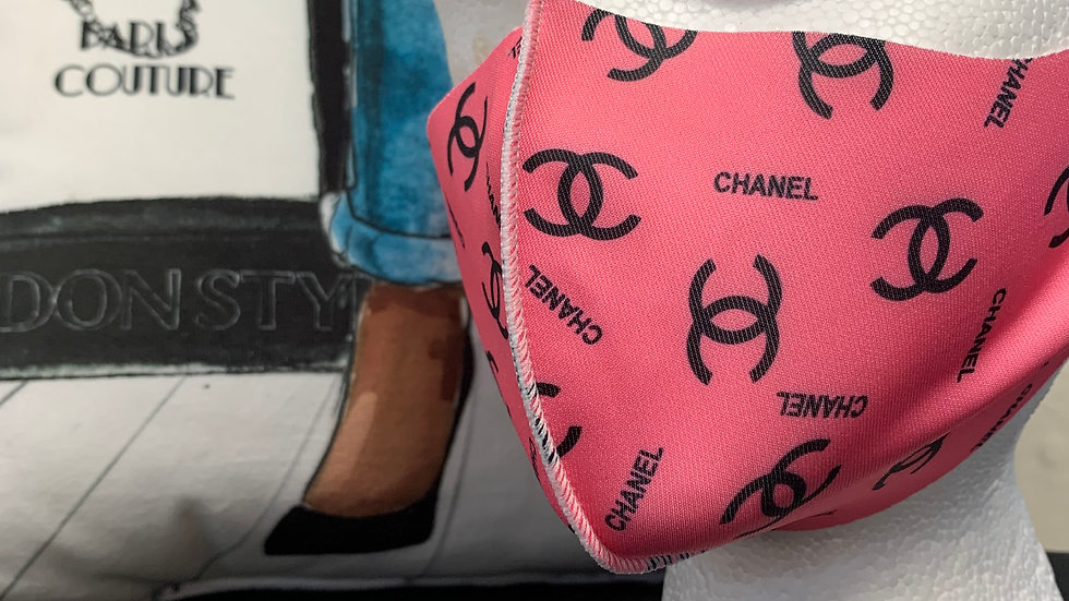 3D Pink Chanel Inspired Mask