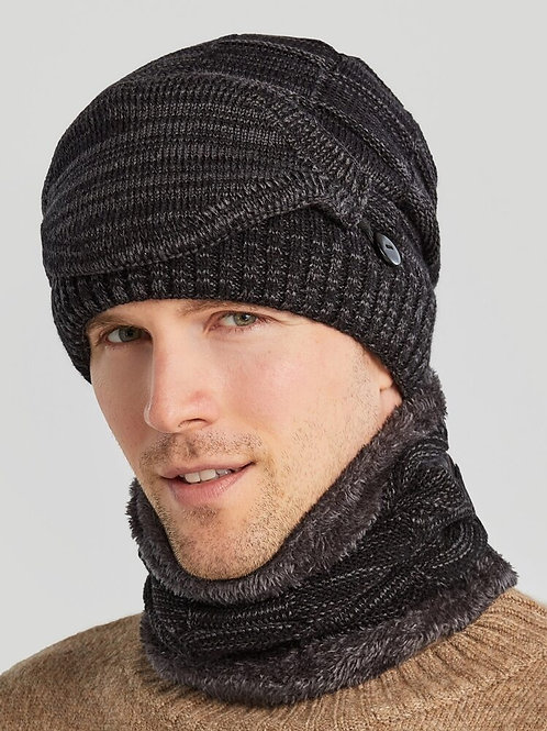 Men's Hat and Matching Face Covering