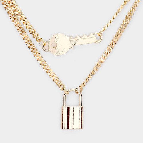 Key & Lock Necklace