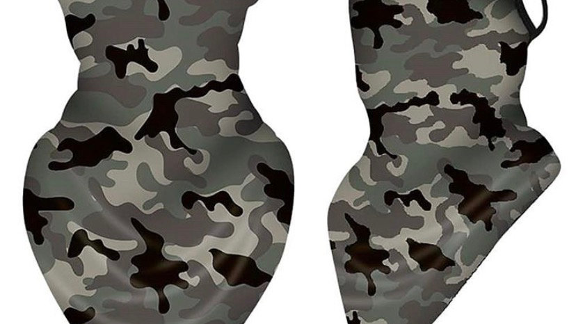 Sage Camo Jersey Face Cover