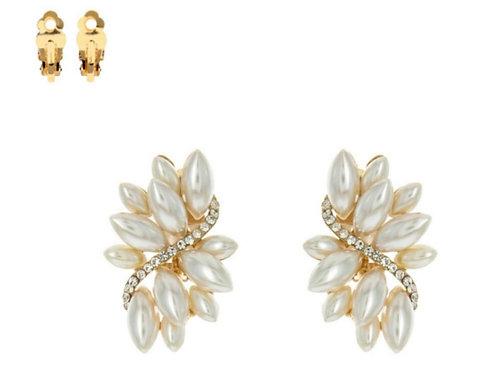 Flourish Pearl Clip-On Earrings
