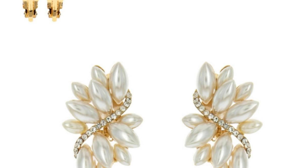 Flourish Pearl Clip-On Earrings